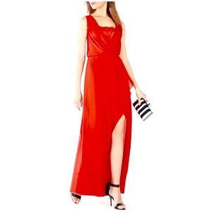 EUC Worn Once! BCBG Koko Lace-Trim Blouson Gown